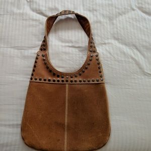 Tan Hobo Leather P.urse with Studs